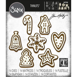 Sizzix by Tim Holtz Thinlits-Stanzform/Christmas Cookies