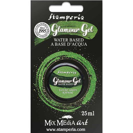 Stamperia-Glamour Glitter Gel/Nature Green
