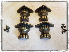 Möbelfüsse - Vintage bronce mittel 342