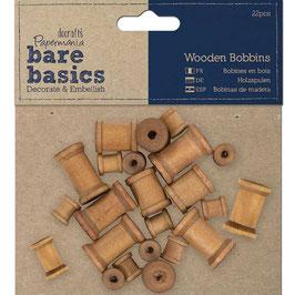 Papermania-Wooden Bobbins/Holzspulen