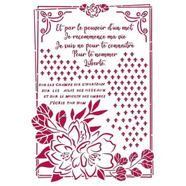 Stamperia-Stencil/Romantic Collection-Journal/Flower & Frame KSG457