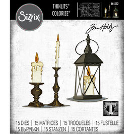 Sizzix by Tim Holtz Thinlits-Stanzform/Candlelight Colorize