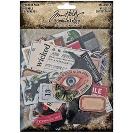 Idea-Ology by Tim Holtz/Ephemera Pack Halloween 93 Stück