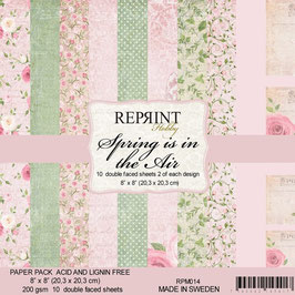 """Reprint-Spring is in the Air Collection 8x8"""""""