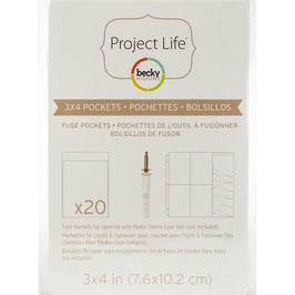 Project life-Fuse Pockets/3x4""
