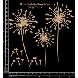 Scrapaholic/Laser Cut Chipboard-Dandelions
