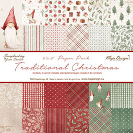 Maja Design-Paper Pad Traditional Christmas 6x6""