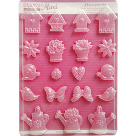 Stamperia-Soft Maxi Mould/Spring Garden