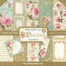 """Stamperia-Paper Pad Precious 12x12"""""""