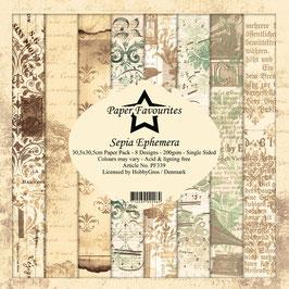 """Paper Favourites-Sepia Ephemera 12x12"""""""