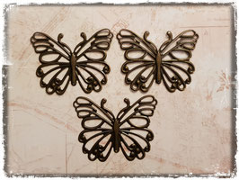 Vintage Metall Charms-bronce/Schmetterling