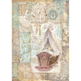 Stamperia Reispapier A4-Sleeping Beauty DFSA4570
