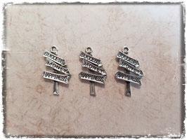 Metall Charms-Wegweiser Silber-209-2