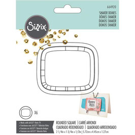 """Sizzix Making Essential/Shaker Domes-Rounded Square 2.25"""""""