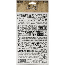 Idea-Ology by Tim Holtz-Rub Ons/Remnant Rubs-Specimen