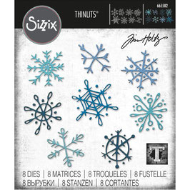 Sizzix by Tim Holtz Thinlits-Stanzform/Scribbly Snowflakes