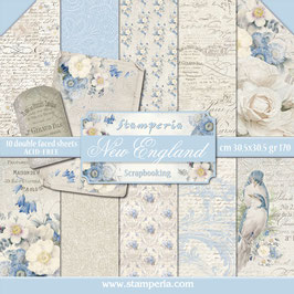 Stamperia-Scrapbooking Papier/New England 12x12""