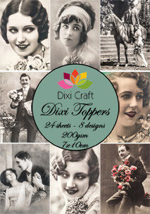 Dixi Craft-Dixi Toppers/Vintage Fotos 1