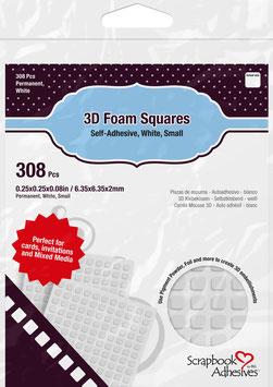 Scrapbook Adhesives-3D Foam Pads/small weiss