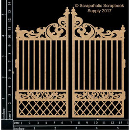 Scrapaholic/Laser Cut Chipboard-Garden Gate