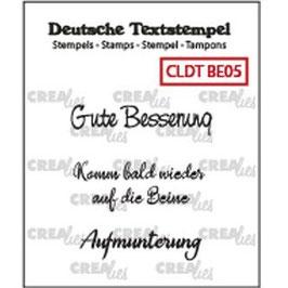 "Crealies-Clear Stamps ""Besserung 05"""