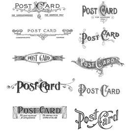 Tim Holtz Stempel Set-Postcards