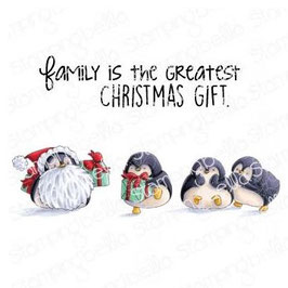 Stamping Bella-Cling Stamp/Penguin Family
