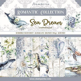Stamperia-Paper Pad Romantic Collection-Sea Dream 8x8""