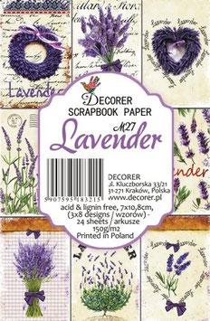 Decorer-Ephemera Karten/Lavender