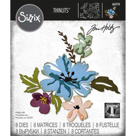 Sizzix by Tim Holtz Thinlits-Stanzform/Brushstroke Flowers #2