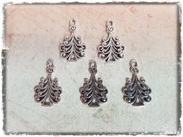 Metall Charms-Weihnachtsbaum Silber 1/207