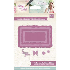 Crafter's Companion Stanzform-Letters from The Heart-Torn Note Paper