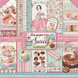 """Stamperia-Paper Pad Sweety 8x8"""""""