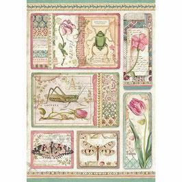 Stamperia Reispapier A4-Spring Botanic DFSA4360