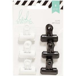Heidi Swapp/Bulldog Clips-Black & White