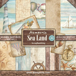 Stamperia-Paper Pad Sea Land 12x12""