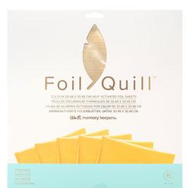 "We R-Foil Quill Folienblätter 12x12""/Gold"