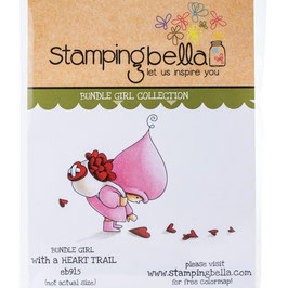 Stamping Bella-Cling Stamp/Bundle Girl With A Heart Trail