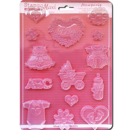 Stamperia-Soft Maxi Mould/Baby Classic A4