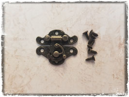 Verschluss mit Hacken - Vintage bronce klein 333