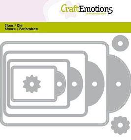 Craft Emotions Stanzform-Labels 4 Grössen