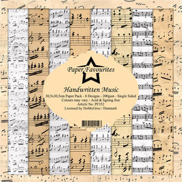"Paper Favourites-Handwritten Music 12x12"""