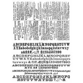 Stampers Anonymous by Tim Holtz-Stempel/Newsprint & Type