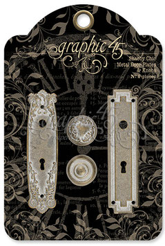 Graphic 45-Metal Door Plates & Knobs/Shabby Chic