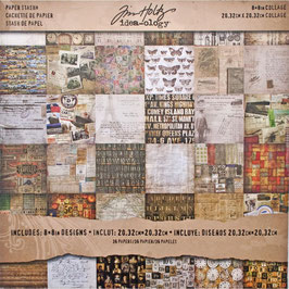 Tim Holtz-Scrapbooking Papier/Collage 8x8""