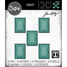 Sizzix by Tim Holtz Thinlits-Stanzform/Stacked Tiles, Rectangles