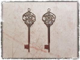 Metall Charms-Schlüssel Silber-249