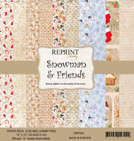"""Reprint-Snowman & Friends 12x12"""""""