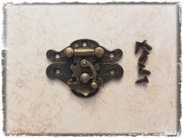 Verschluss mit Hacken - Vintage bronce mittel 332