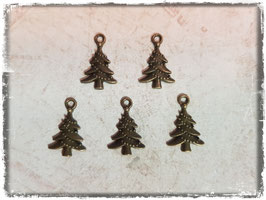 Metall Charms-Weihnachtsbaum Bronce 1/133